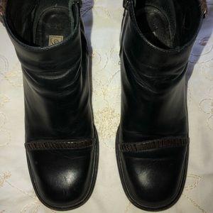 Brighton black short boots